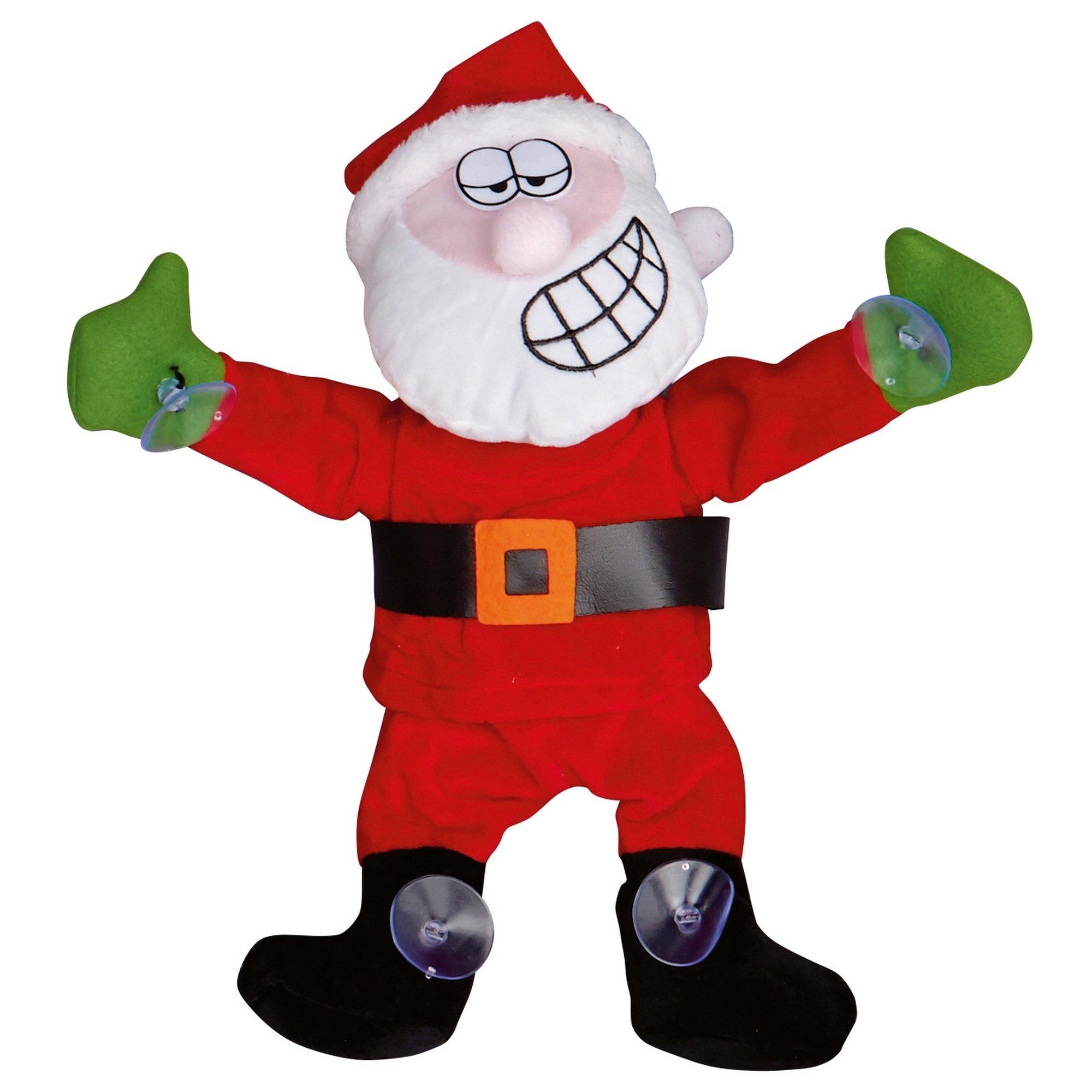 Christmas Shop Dancing Window Cling (One Size) (Santa)