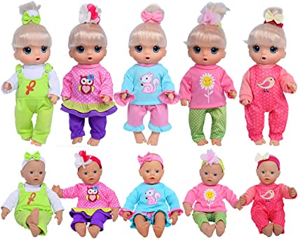 ebuddy 5-Outfit Set With Hair Bows