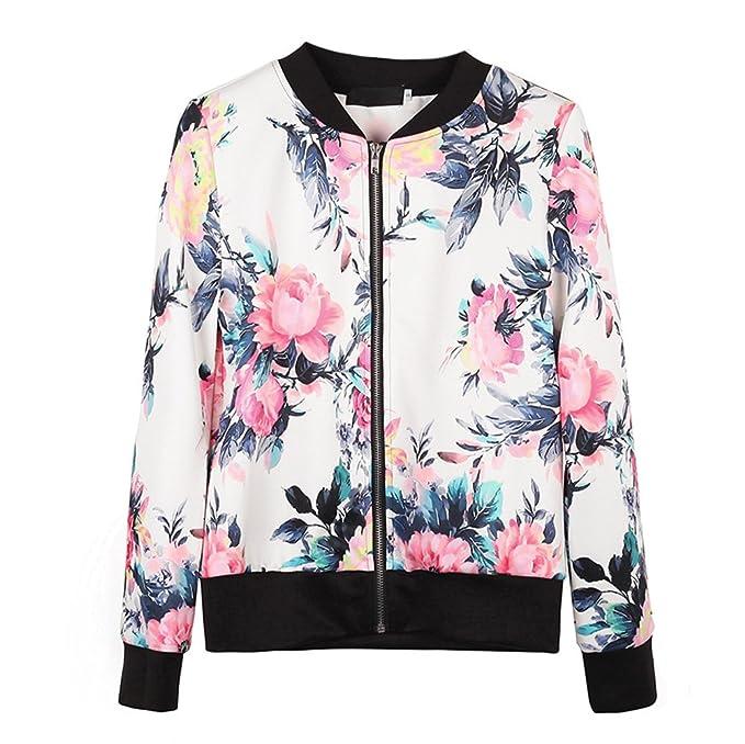 Abrigos Otoño Mujer Chaquetas Bola base Abrigos Moda Flores Outerwear Impresión Outfit Casual Blusas Sports Otoño