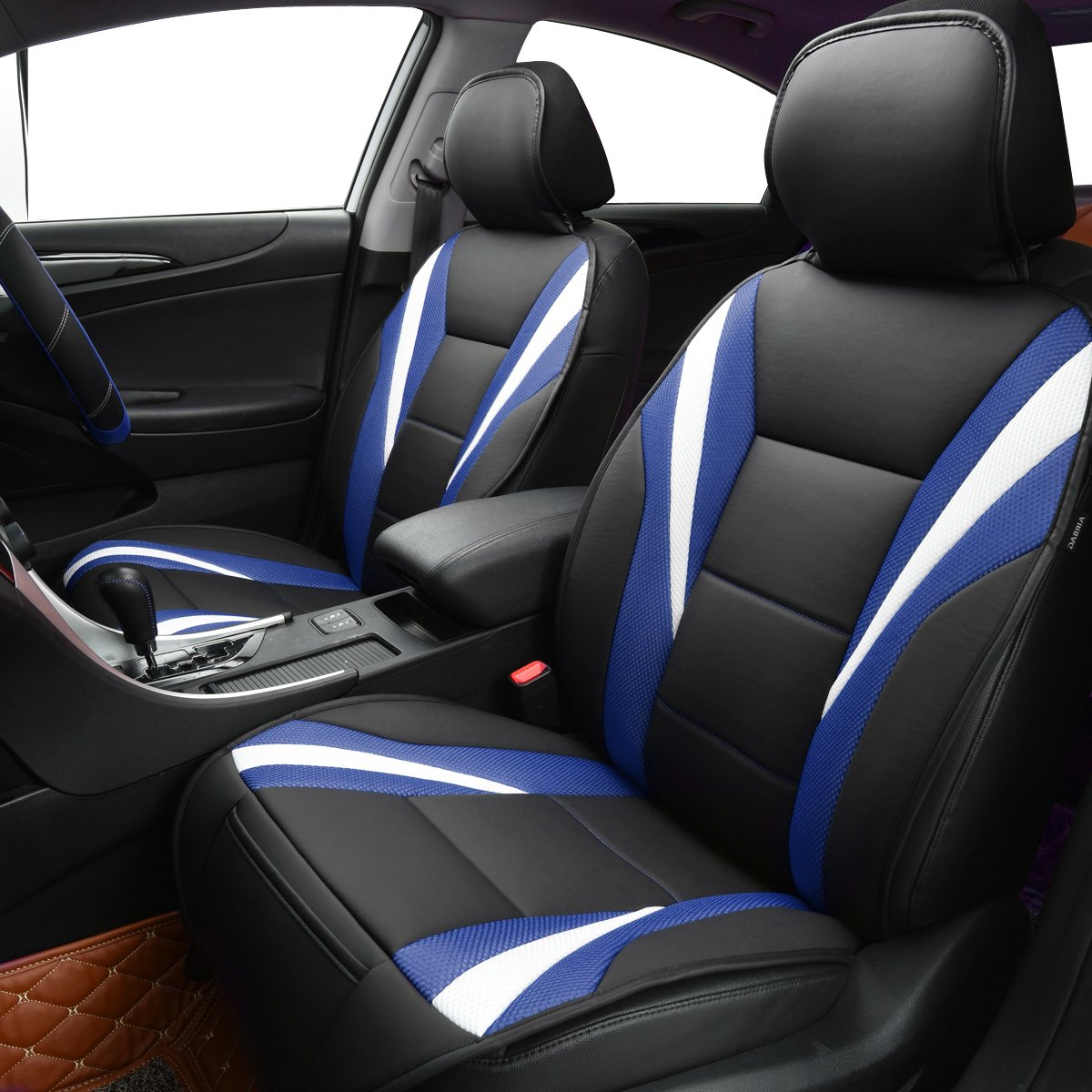 CAR PASS Delux Sideless Universal Fit Car Seat Cover FOR 1 SET With carriage Bag Black And Red Black and red color NEW ARRIVAL