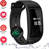 Fitness Tracker,IP67 Waterproof Sports Smart Wristband with Blood Oxygen Monitor/Blood Pressure/Heart Rate Monitor for Android Phone and iOS iPhone