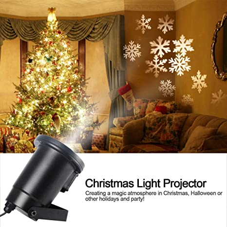 Gemtune Christmas Light Projector Led With Moving White Snowflakes