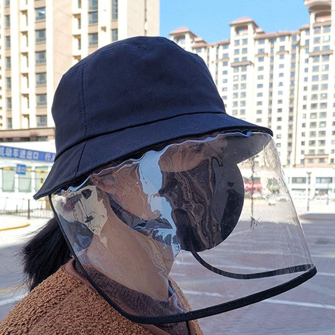 Bverionant Sombrero Protector de Polvo Sombrero de Pescador con Protecci/ón Facial Antisalpicadura Sombrero de Protecci/ón Antipolvo Sombrero de Sol