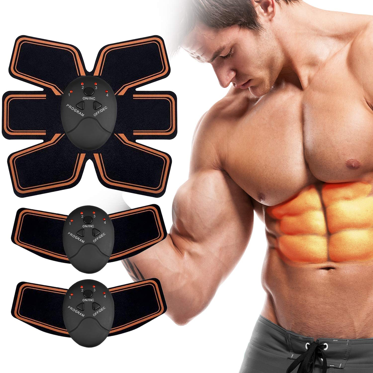 Abs Stimulator, Muscle Toner – Abs Stimulating Belt- Abdominal Toner- Training Device for Muscles- Wireless Portable to-Go Gym Device- Muscle Sculpting at Home- Fitness Equipment for at-Home Workouts
