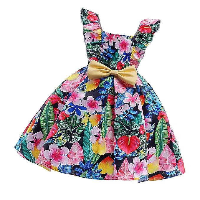 d90baae6c D DOLITY Vestido Floral de Princesa Estilo Moderno Niñas Día de ...
