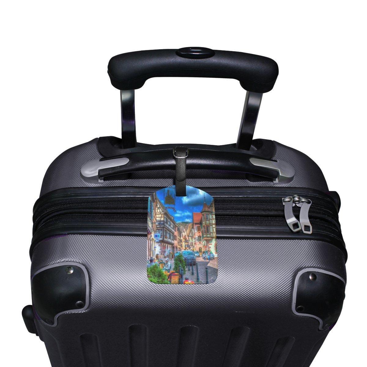 1Pcs Saobao Travel Luggage Tag City PU Leather Baggage Suitcase Travel ID Bag Tag