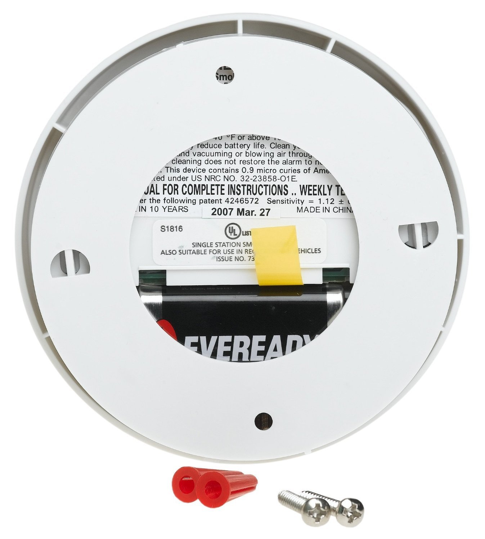 Kidde i9040 Fire Sentry Battery-Operated Ionization Sensor Compact Smoke Alarm 4 Pack