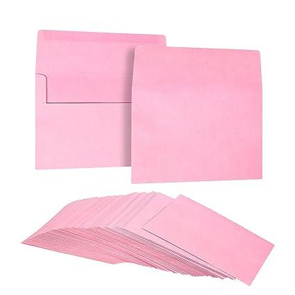 amazon com 100 pack pastel pink color a7 envelopes for 5 x 7