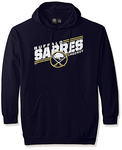 VF Buffalo Sabres NHL Mens Majestic One Timer Pullover Hoodie Navy Blue Big    Tall Sizes 69266ff68