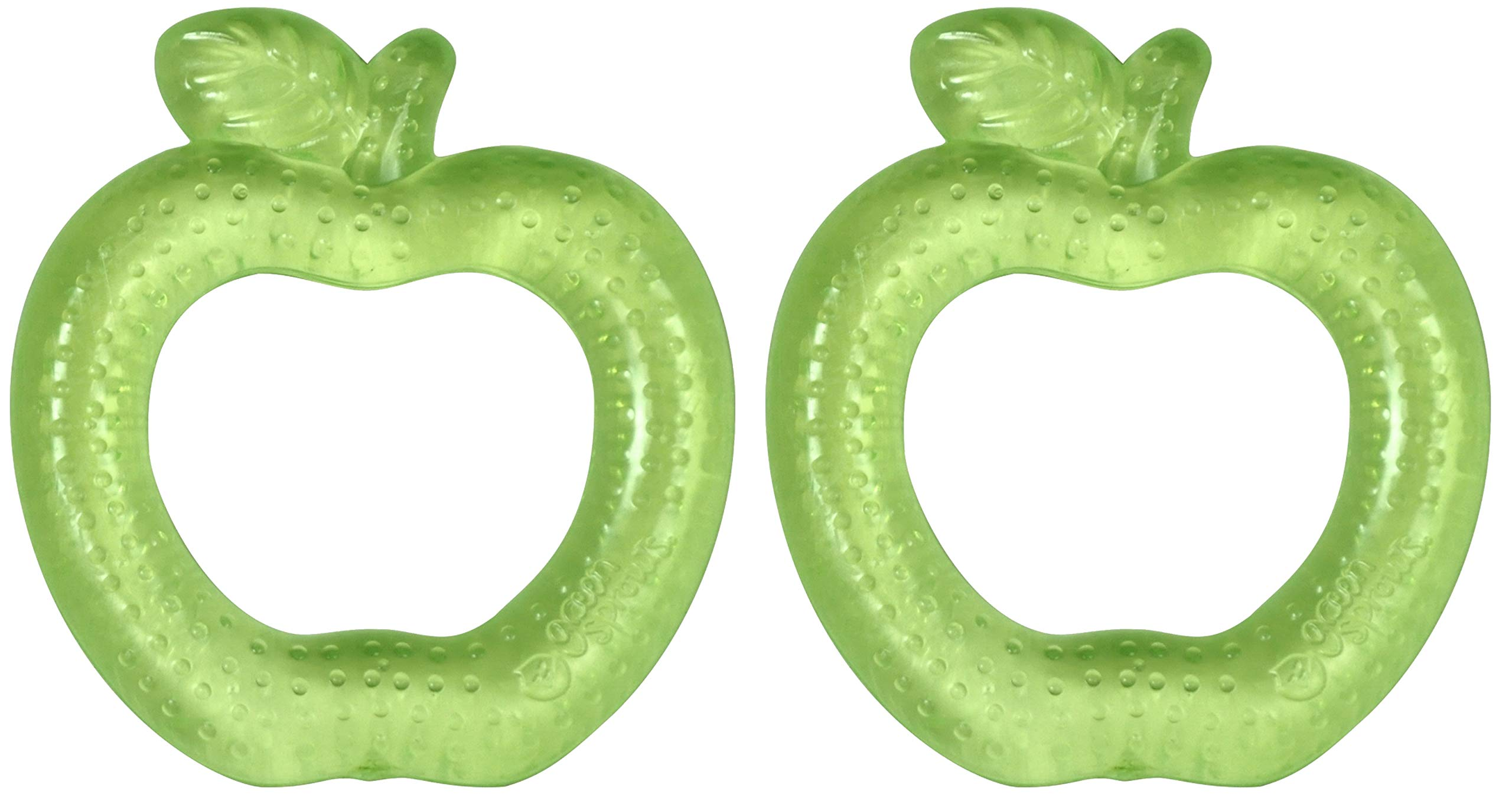green sprouts Cooling Teether (2 Pack) | Soothes Gums & Promotes Healthy Oral Development | Safer Plastic Filled with sterilized Water, Chill for Extra Relief, Textured Surface to Massage Gums