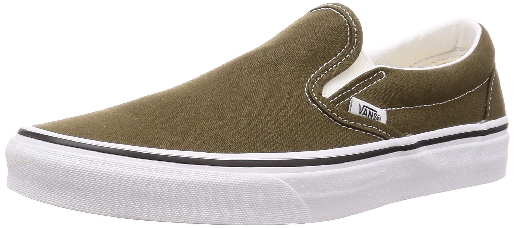 Vans Unisex Classic Slip-On Skate Shoe (10.5 Women/9 Men, Beech/True White) by Vans