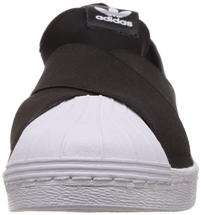 adidas shoes superstar black. amazon.com | adidas women\u0027s superstar slip on w, black/white, 8.5 us road running shoes black r