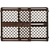 """Ergo Pressure or Hardware Mount Plastic Gate, Espresso, Fits Spaces between 26"""" to 42"""" Wide and 26""""high"""