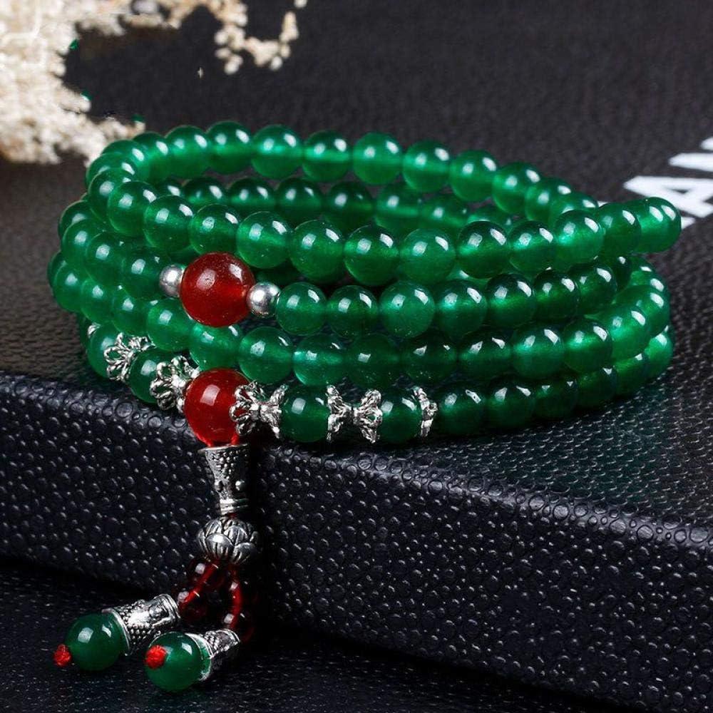 Pulsera De Piedra,La Piedra Natural Multicapa Bordada Pulsera Brazalete Naturales De Jade Verde Oscuro Jade Ágata Cera Color Crystal Joyas Mano Pulsera Anillo Prendas Personalizadas Accesorios Joyas