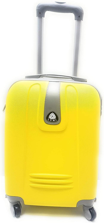 - O-1 Ormi-Lumi Valise /à roulettes convient pour vols avec Ryanair jaune en ABS rigide 52 x 37 x 19/cm Jaune 4 roues bagage /à main