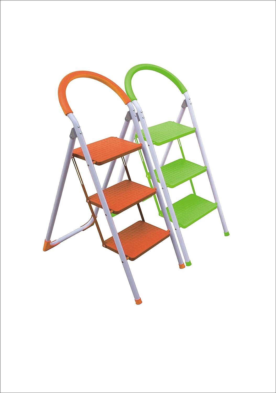 Escalera Plegable Multi-Función con Peldaños y Tope Anti-deslizantes. Mod.: Step de Eneide. Taburete Multi-uso. (Hierro fundido Ø25mm, 3 Peldaños): Amazon.es: Bricolaje y herramientas