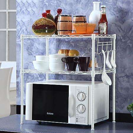 Chen Rejilla para horno de microondas de 2 capas (Color : Blanco ...