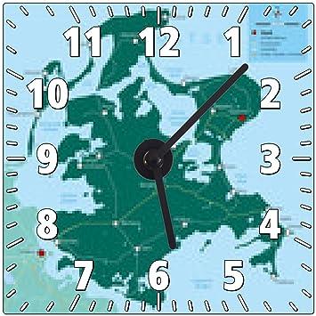 Amazon De Wanduhr Rugen Karte Mit Legende Map Rugen Ostseeinsel