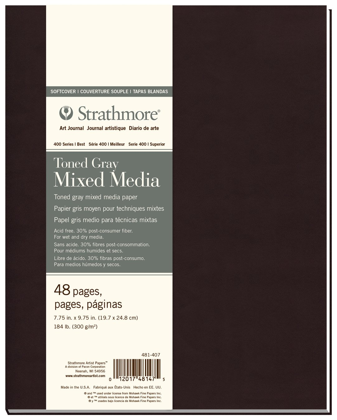 48 Sheets Strathmore Softcover Drawing Journal 5.5 x 8