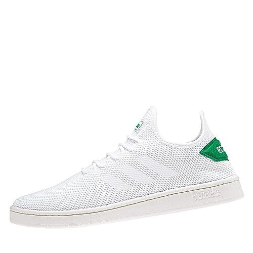 Adidas Court Adapt, Zapatillas de Tenis para Hombre, Blanco Ftwbla/Verde 000, 42 2/3 EU: Amazon.es: Zapatos y complementos
