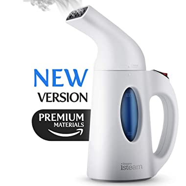 Isteam - Steamer For Clothes [Updated version] 7-in-1 Powerful Multi-Use: Wrinkle Remover-Clean-Sterilize-Sanitize-Refresh-Treat-Defrost-Garment/Home/Kitchen/Bathroom/Car/Travel