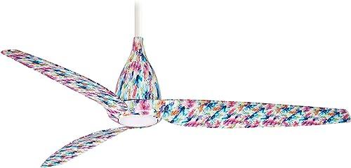 Minka-Aire F831L-FLR Tear Ceiling Fan in Multi-colored Flower