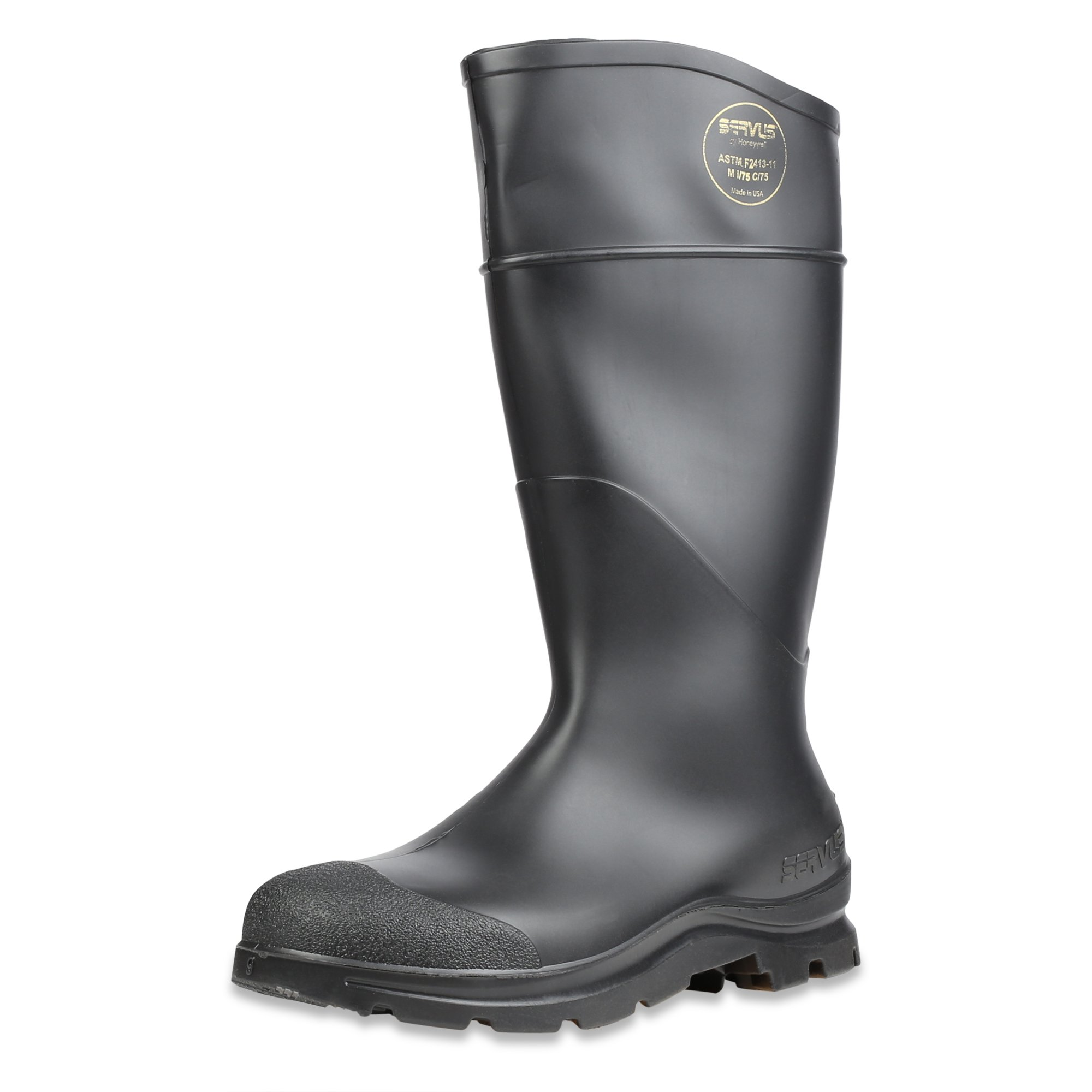 Servus Comfort Technology 14'' PVC Steel Toe Men's Work Boots, Black, Size 10 (18821) by SERVUS