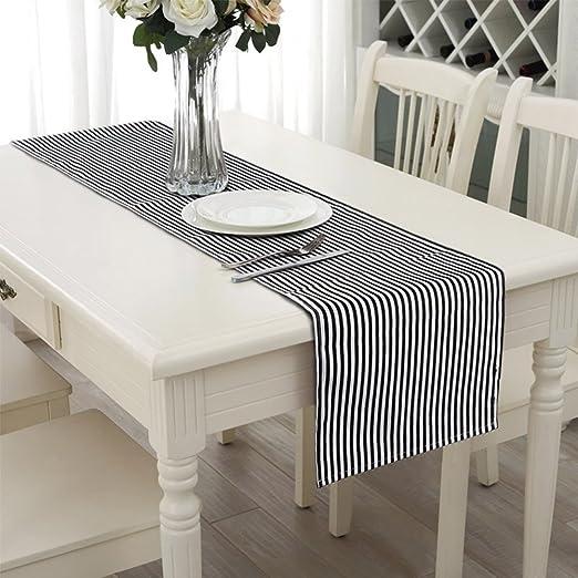 Aerwo 14X72inch/35X182cm tapetes para la mesa se puede lavar a ...