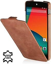 StilGut, UltraSlim, pochette exclusive en cuir véritable pour le Google Nexus 5, cognac vintage
