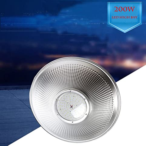 200W LED High Bay Light Warehouse Garage Shop Lighting Fixture Commercial Industrial Chandelier Ceiling Lamp