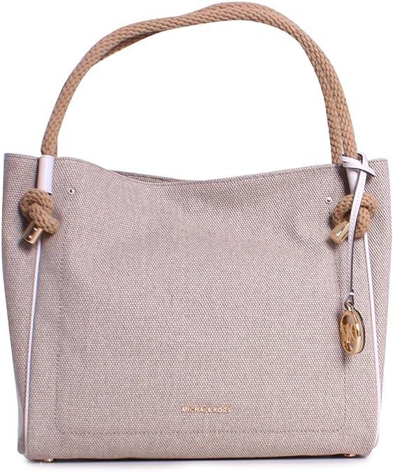 MICHAEL MICHAEL KORS Isla Large Textured Grab Bag, Hemp