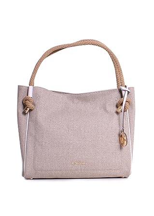 6d2bc2ce7599 Amazon.com: MICHAEL MICHAEL KORS Isla Large Textured Grab Bag, Hemp:  Clothing