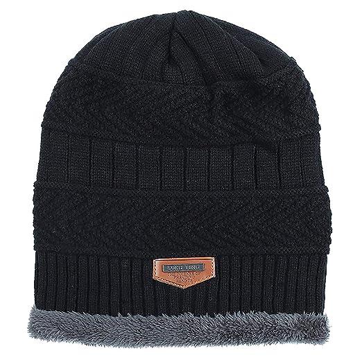 f80a502d197 MEEFUR Men s Knitting Woolen Stocking Cap Thick Fleece Lining Beanie Winter  Warm Hat Soft Slouchy Skull