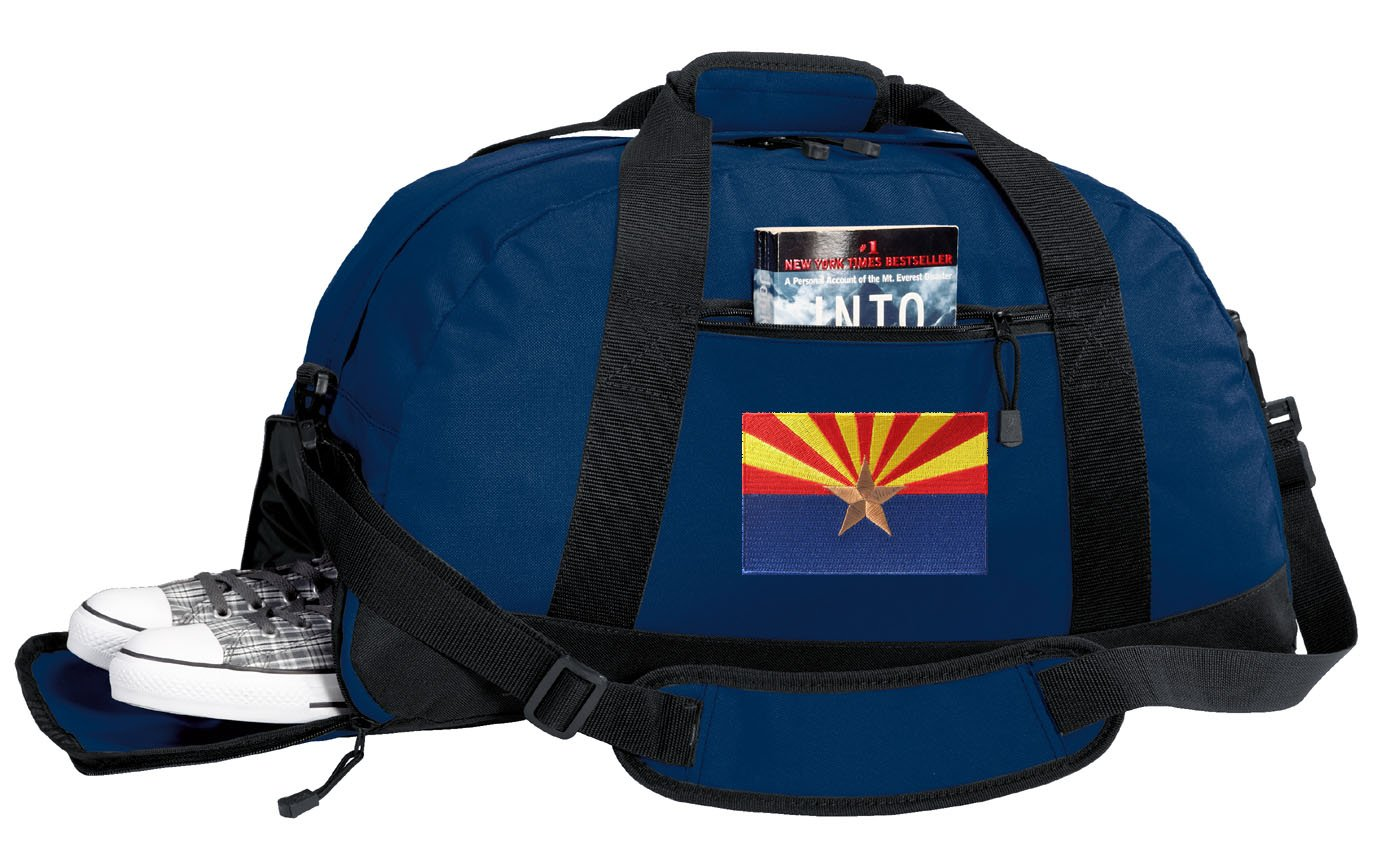 Arizona Flag Gym Bags w//SHOE POCKETS Arizona Duffel Bag