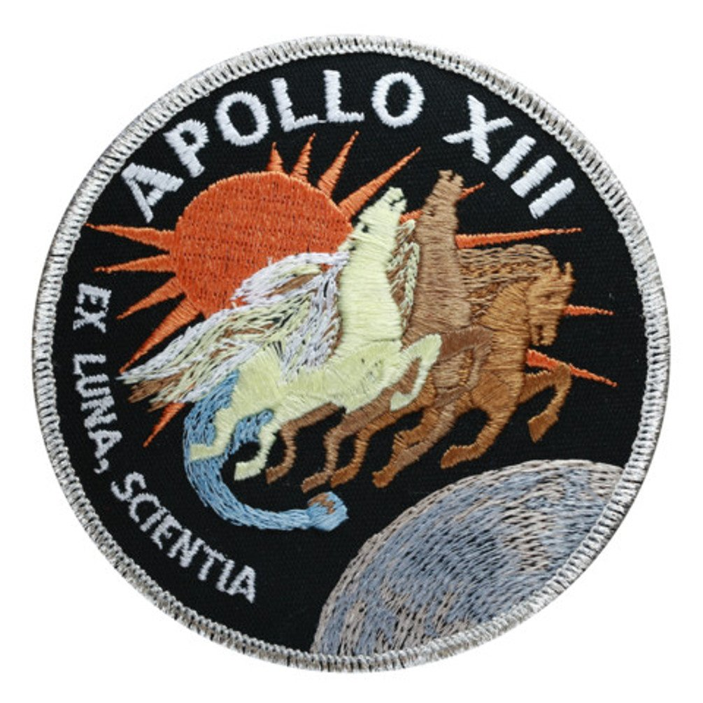 Apollo 13 Mission Embroidered Patch (Official Patch) (10cm Dia) approx
