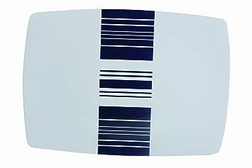 Diseño de rayas azul marino de vajilla de melamina fuente ...
