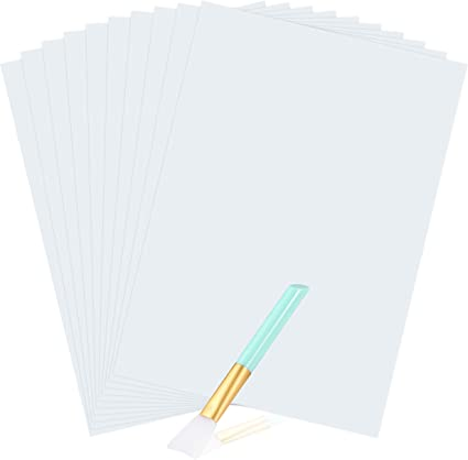 Clear Inkjet Water Slide Decal Paper 10 Sheets A4