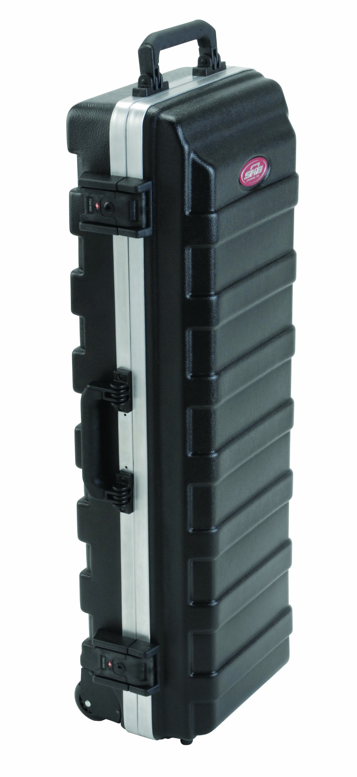 SKB Compact Stand Case 36-1/2 x 11-7/8 x 8-1/4 with Wheels & Straps, TSA Latches, Over molded Handle