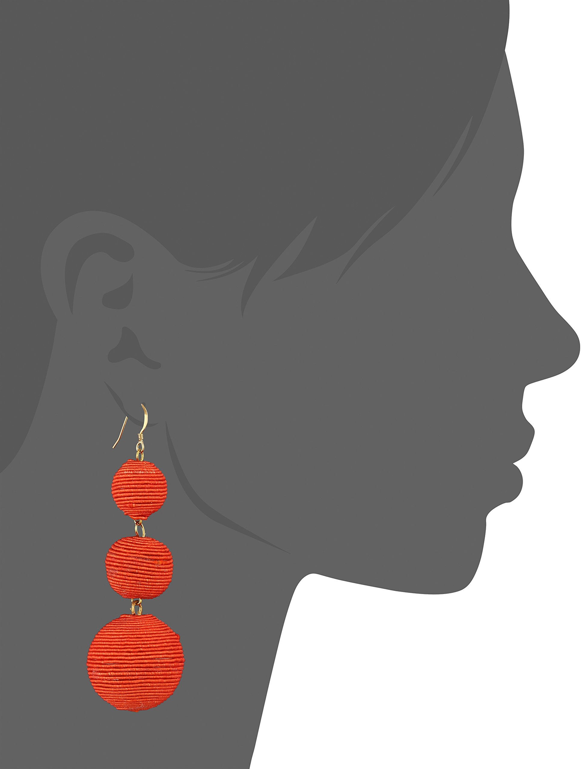 Kenneth Jay Lane Coral Thread Ball Drop Earrings by Kenneth Jay Lane (Image #2)
