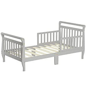 Dream On Me Classic Sleigh Toddler Bed, Cool Gray,