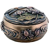 Dragonfly with Flowers Art Nouveau Design Jewelry Holder Box