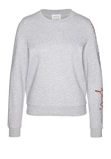 e8c59d99727e armedangels Damen Sweatshirt aus Bio-Baumwolle - Philomena XL Grey Melange  GOTS, Organic,