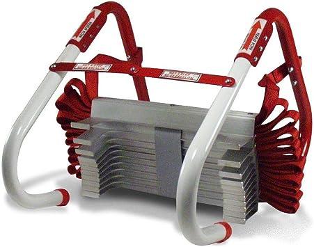 Escalera de evacuación contra incendios (7,6 m, plegable, para edificio de 3 plantas): Amazon.es: Bricolaje y herramientas