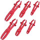 Yarlung 6 Pack 3 Size Plastic Hose Clamp Pliers, Line Clamps Pinch Pliers for Flexible Hoses, Brake Hoses, Fuel Hoses…