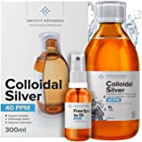 Premium Colloidal Silver 40ppm 10 fl oz ● Optimal Concentration Formula, Smaller Particles, Better Results ● Laboratory Certi