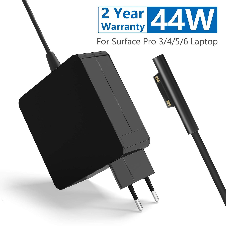 Rytaki Surface Pro 5/4 Cargador, 44W 15V 2.58A Electrónica Adaptador de Corriente para Microsoft Surface Pro 6 Surface Pro 5 Model 1796 Surface Pro 4 ...