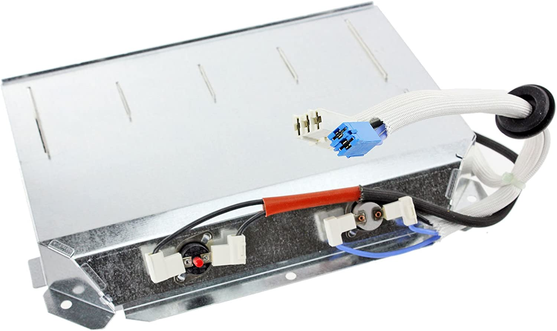 Spares2go elemento calefactor de 2500W + Termostatos para Beko secadora