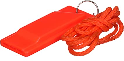Outdoor Safe Plastic Emergency Survival Red Whistle With Lock For Hiking Walking