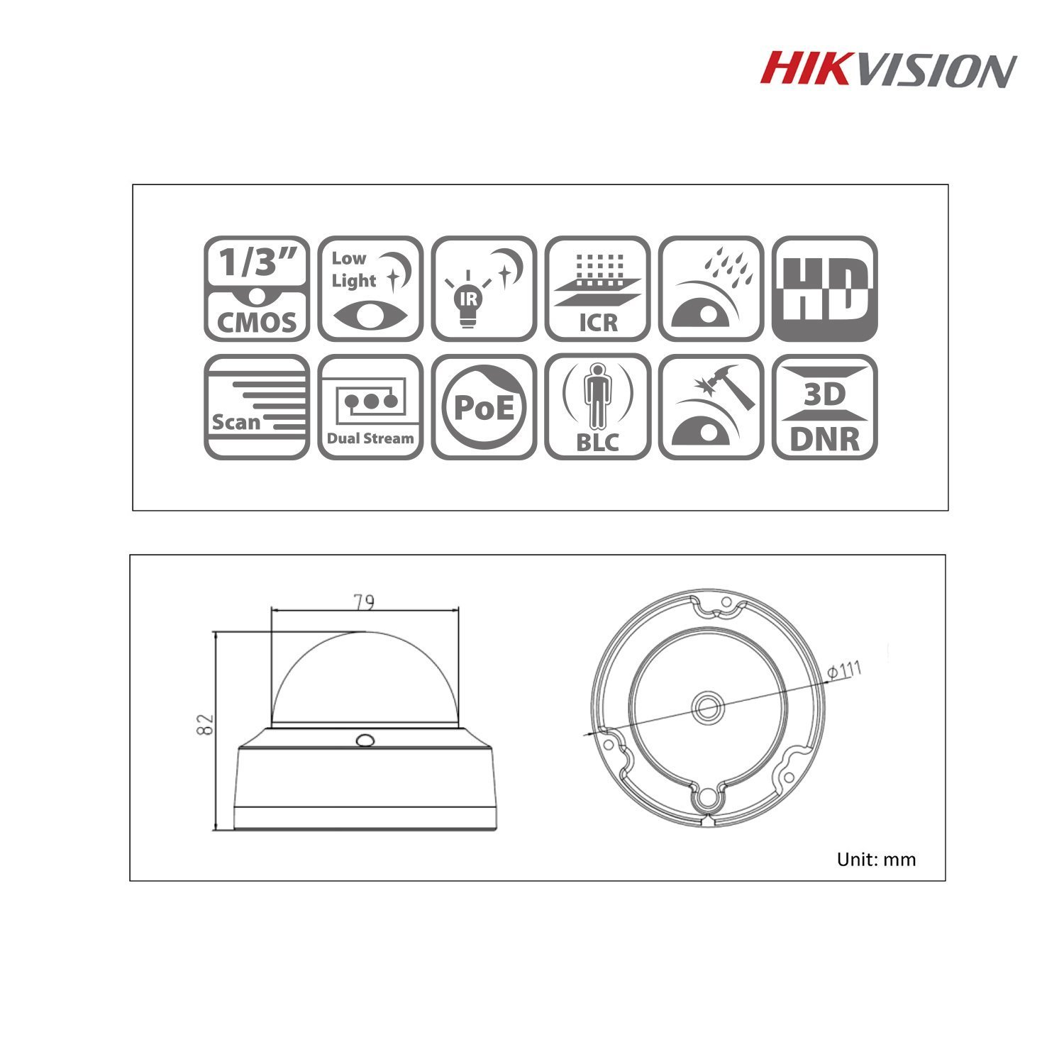 G7G-Hikvision DS-2CD2132-I 3MP HD 1080P IR PoE Indoor: Amazon co uk