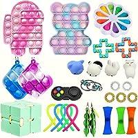 Conjunto de juguetes fidget sensoriales de 30 piezas para aliviar el estrés, ansiedad, paquete de juguetes para niños y…